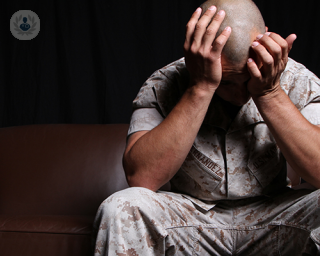 Man with post-traumatic stress disorder