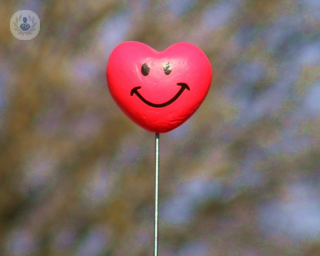 Smiling heart on a stick
