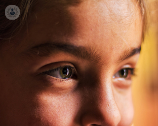 Close-up of a girl's eyes