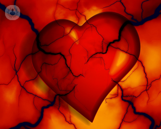 A digital drawing of a heart
