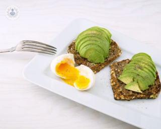 egg, avocado on toast :) yum!