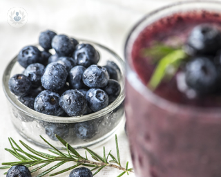 Blue berries and fruit smoothie