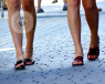 ladies legs walking down the street