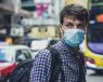 A man wears a face mask during the 2019-20 coronavirus (COVID-19) outbreak to try to prevent catching it.